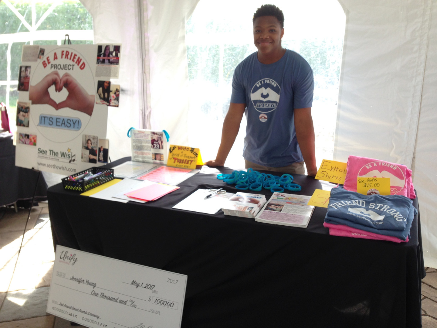 Ziaire Mickell runs table at UNIFY, MA