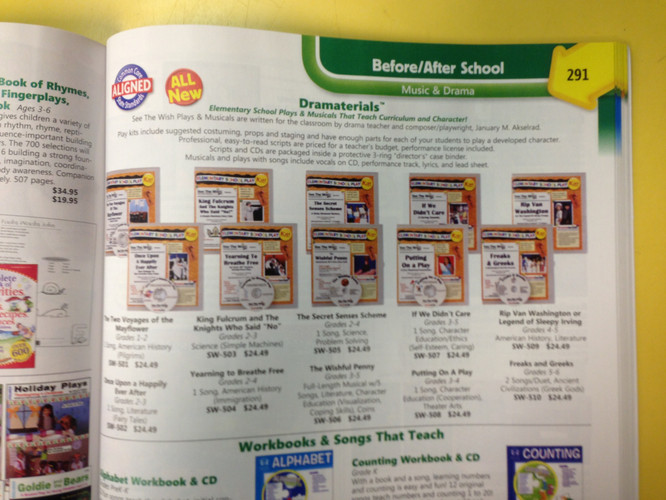 Dramaterials in the Creative Concepts school supply catalog