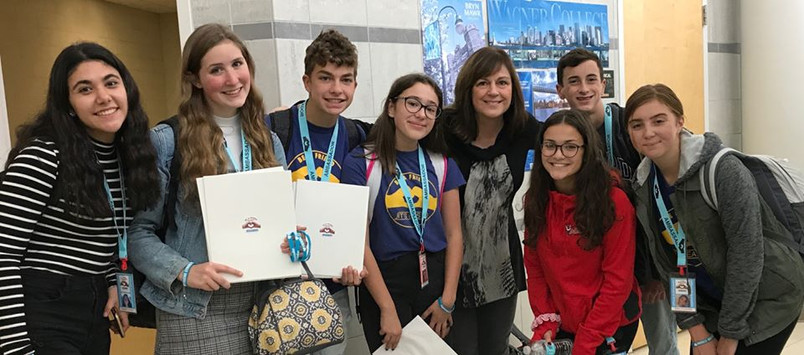 Brielle recruits friends to serve the Cornwall Central School District and each become a Super Ambassador in 2020:(L to R) Maddie D'Arco, Casey Steiner, Peter Samuelson, Brielle with Executive Director Jennifer, Stephanie Corriea, Louis Argenio and Julia Trischitta!