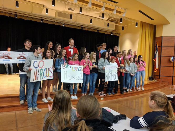 "Surprise Assembly for ""Marcus"" at Bushland Middle School, TX"