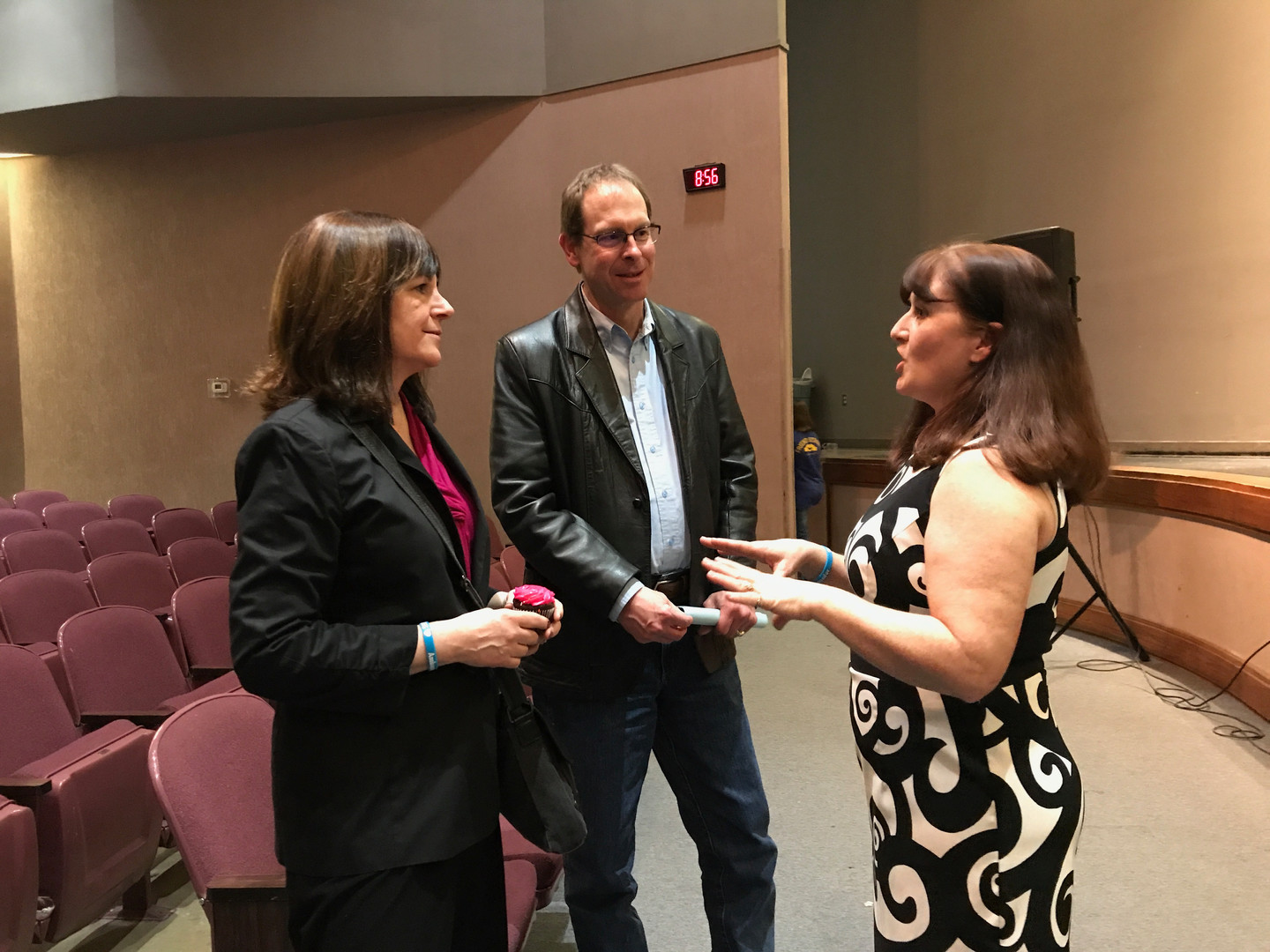 Jennifer chats with Director Selman and Superintendant at Canyon ISD, TX