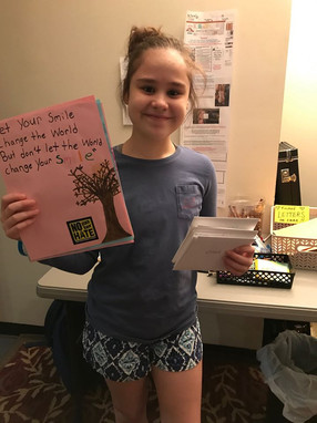 Cast member Allie Puerto collected and wrote dozens of letters of support!