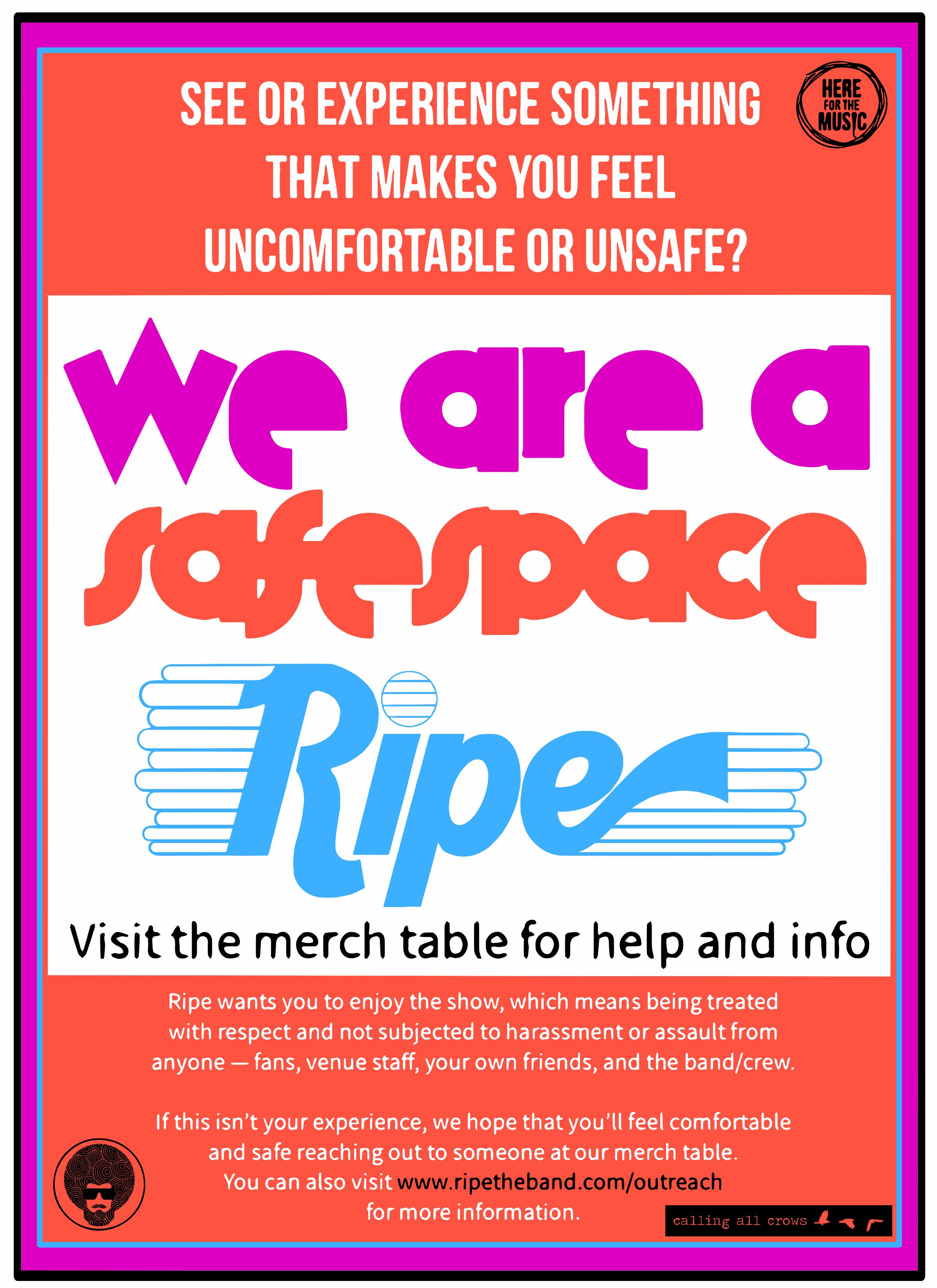 Ripe Safe Space Campaign