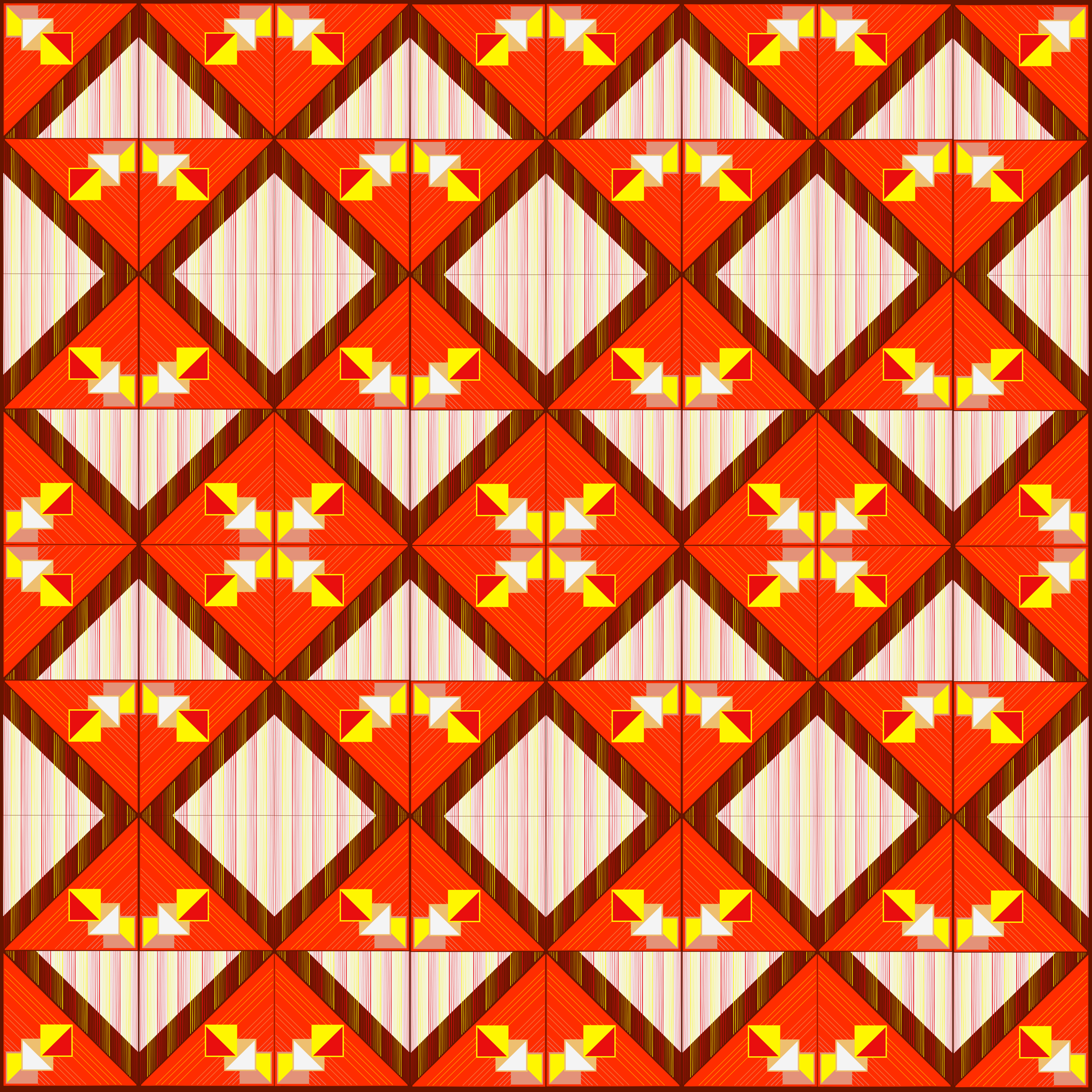 Red Geometric Fabric