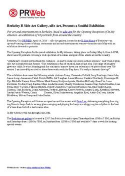 article in prweb for uBe_Art gallery exhibit