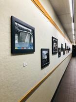 Birds eye view of 80 foot Gallery wall