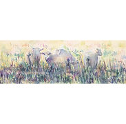 Sheep Grazing at Twilight