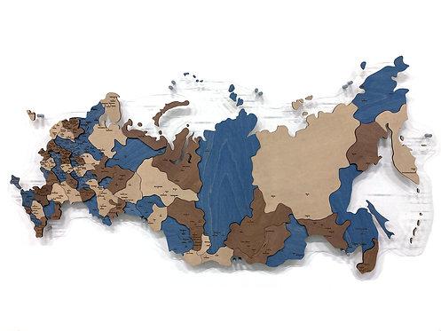 Карта России многоуровневая (Индиго)