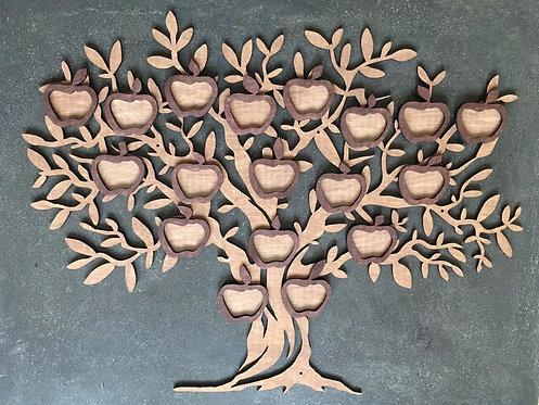 Семейная карта (семейное дерево) под фотографии