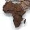 Thumbnail: Карта мира многоуровневая (Шоколадная)
