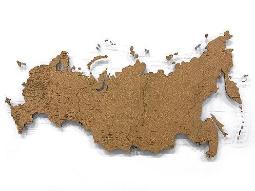 Карта России из пробки