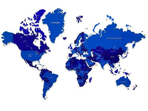 Карта мира одноуровневая (Стеклянная)