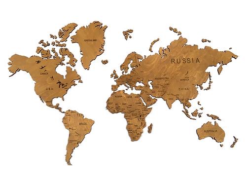 Карта мира однотонная (без подложки)