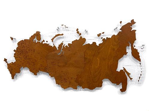 Карта России однотонная (одноуровневая)