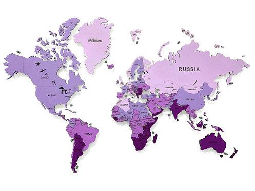 Карта мира многоуровневая (Аметистовая)