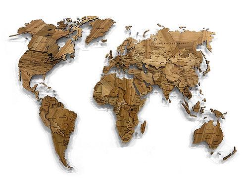 Многоуровневая карта мира из массива черешни