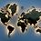 Многоуровневая карта-мозаика из ценных пород древесины с подсветкой