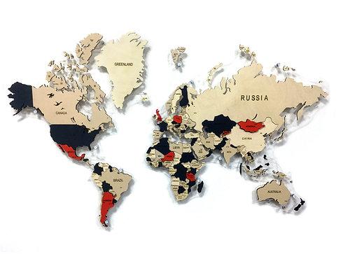 Карта мира многоуровневая (Лондон)