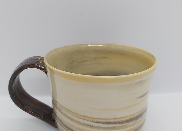 Hand Thrown Marbled Mug