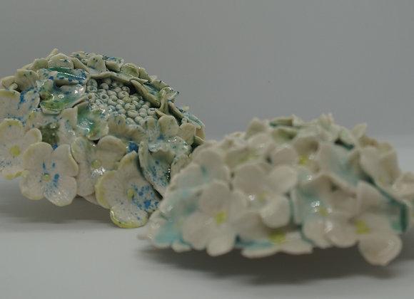Porcelain Mophead Hydrangea Cane Topper