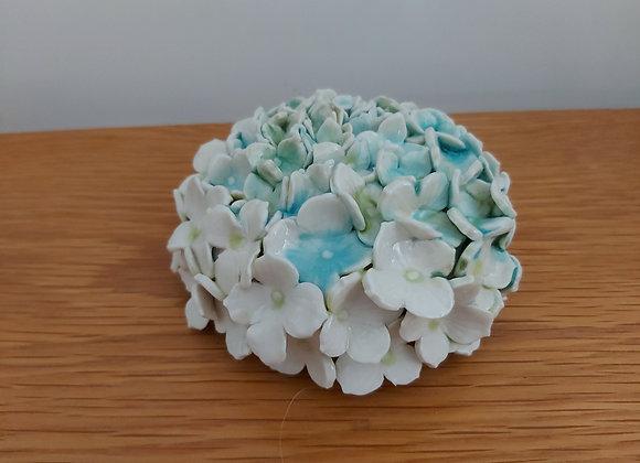 Porcelain Hydrangea Cane Topper