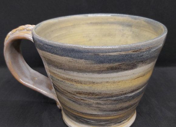 Dark Grey/Honey Large Marbled Mug