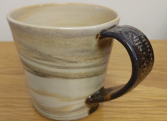 Hand Thrown Marbled Mug