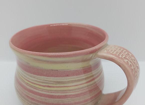 Hand Thrown Pink Marbled Mug