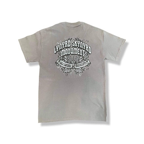 LSM Grey T Shirt with front pocket .