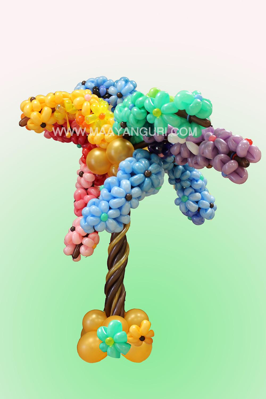 עץ מבלונים , פרחים מבלונים מעין גורי אומנית הבלונים