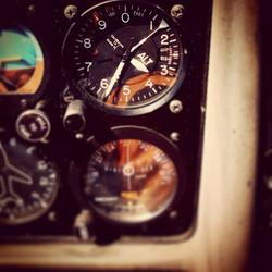 Flying above (FL135)