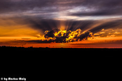 Sunset at Garching