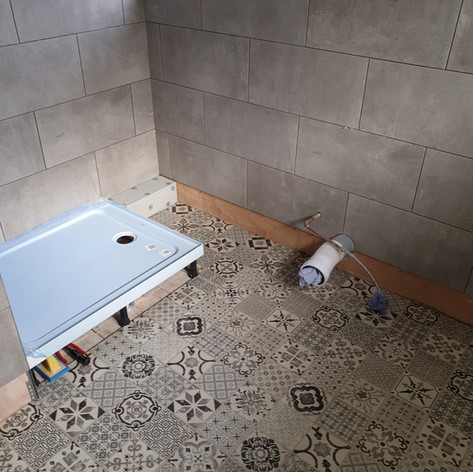 New tray, new tiles & and new LVT flooring
