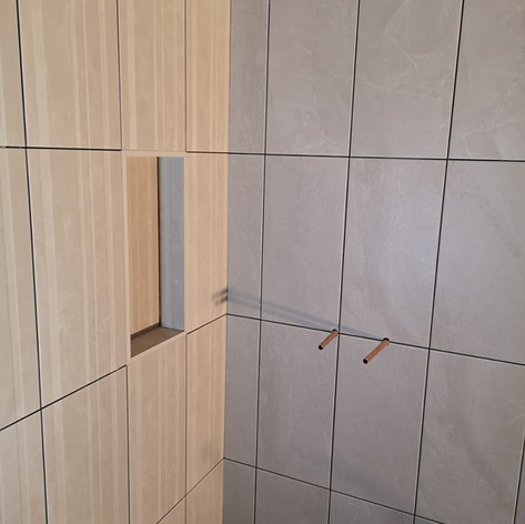 Another ensuite job with shower niche