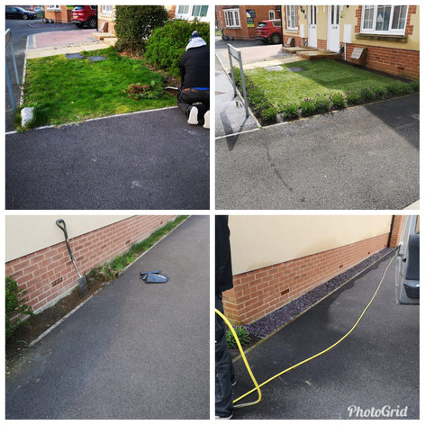 A quick front garden tidy, new turf, borders & shrubs