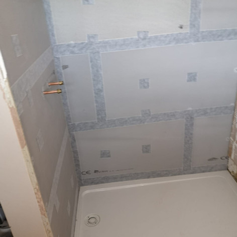 All new insulation boards & waterproofing, new shower tray ..