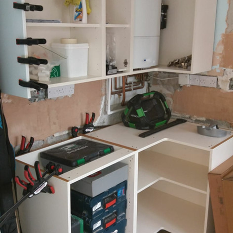 New kitchen going in...