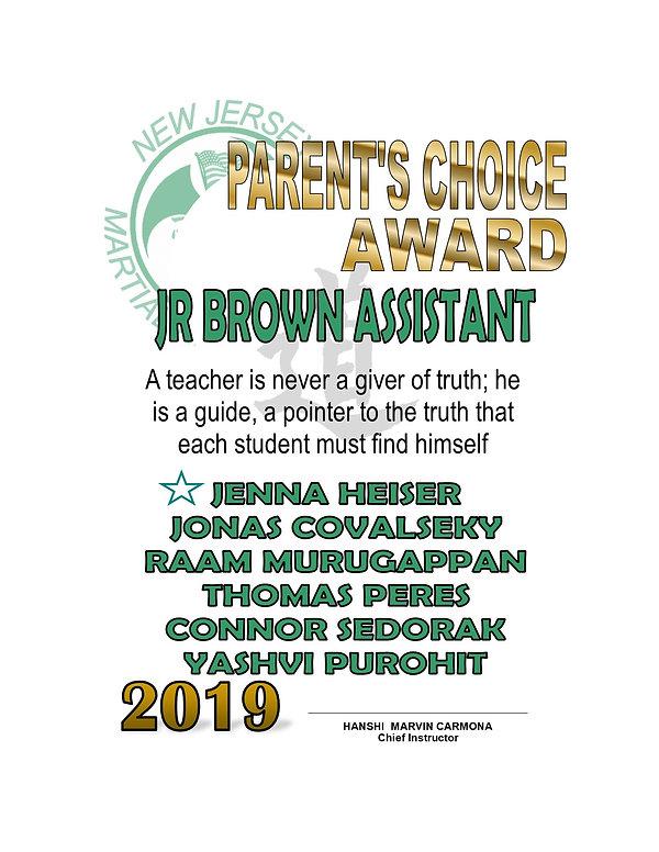 2019 Parent Choice Junior Brown Belt.jpg