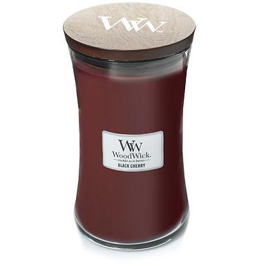 Candela Woodwick Large BLACK CHERRY