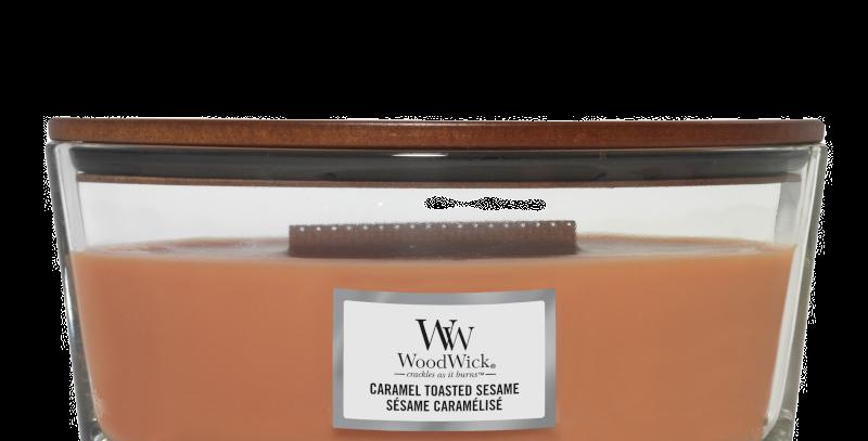 Candela Woodwick Ellipse CARAMEL TOASTED SESAME