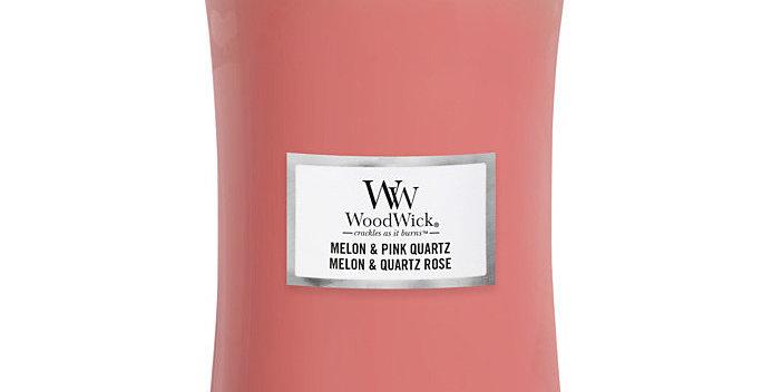 Candela Woodwick Melon & Pink Quartz Large