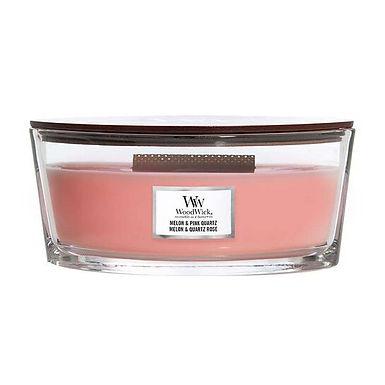 Candela Woodwick Melon & Pink Quartz Ellipse