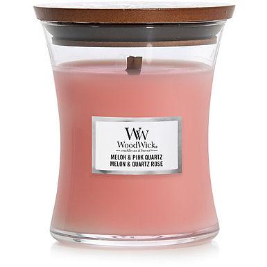 Candela Woodwick Melon & Pink Quartz Mini