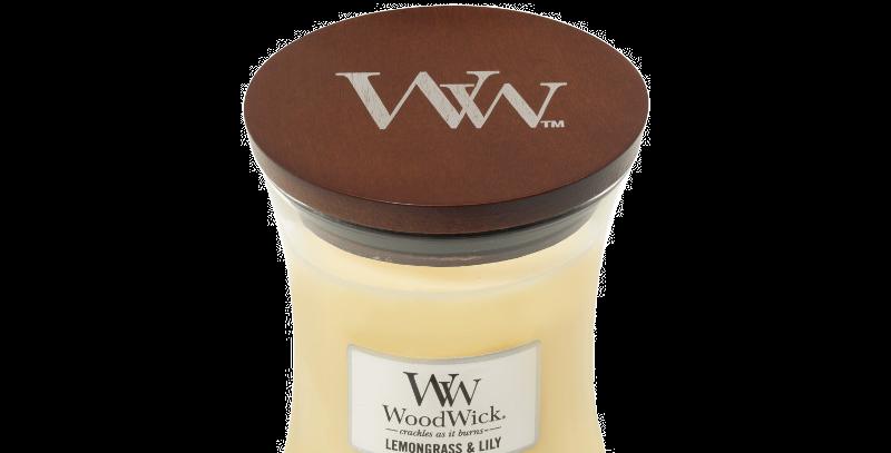 Candela Woodwick Medium LEMONGRASS & LILY