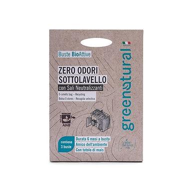 Zero odori sottolavello - 3 Buste Bioattive -