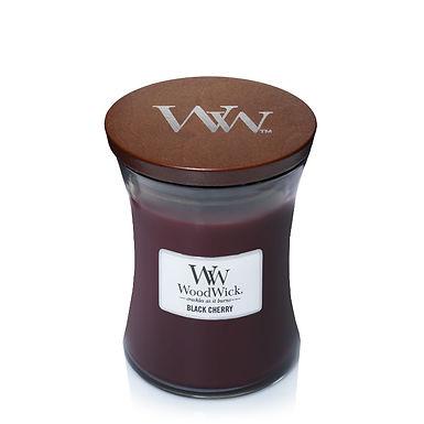 Candela Woodwick Medium BLACK CHERRY