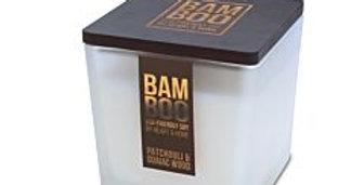 CANDELA BAMBOO IN CERA DI SOIA - PATCHOULI & GUAIAC WOOD - 210G