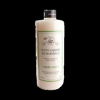 Sapone di Marsiglia Liquido Ricarica 1Lt alla Mandorla Dolce