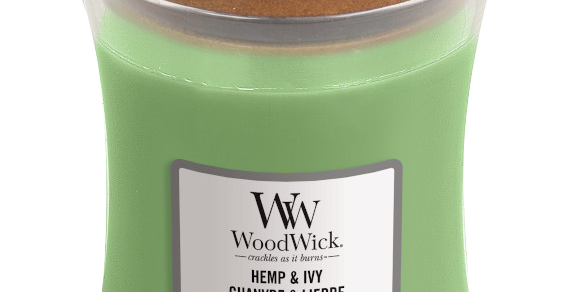 Candela Woodwick Mini HEMP AND IVY