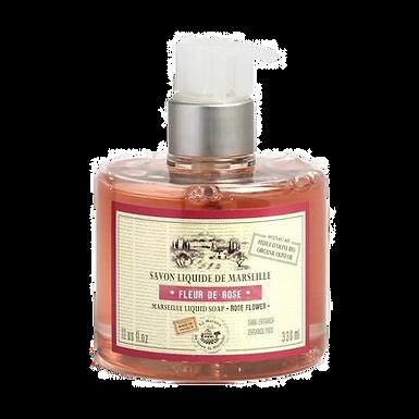 Sapone di Marsiglia Liquido 330ml con Dosatore alla Rosa